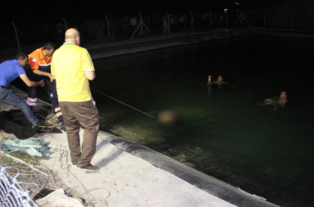 karaman sulama havuzuna giren çocuk
